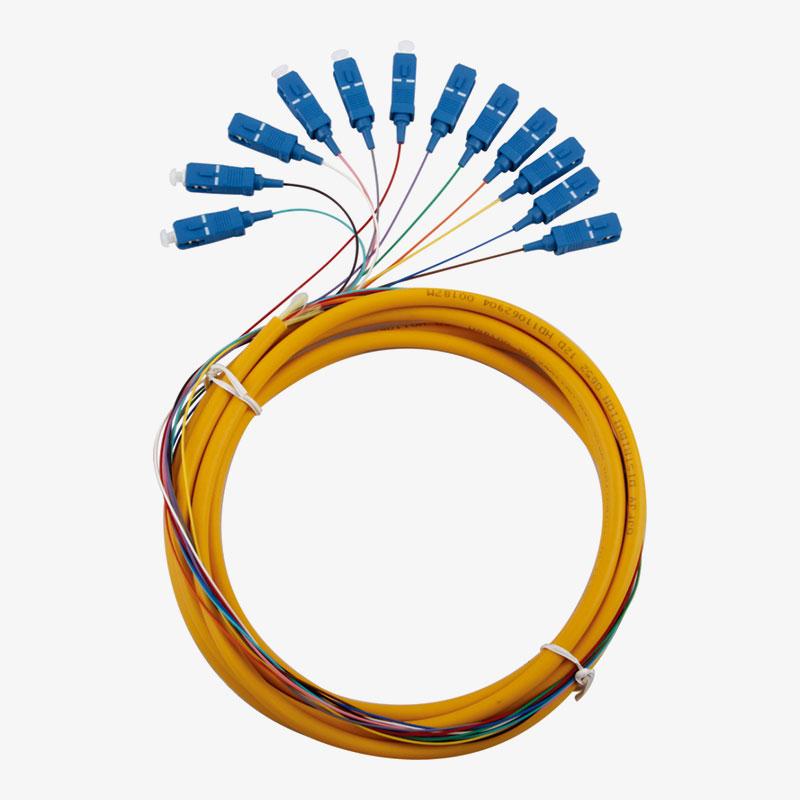 Cordon de raccordement 12 multi couleurs pigtail SC/UPC